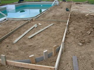 electrical and concrete deck grounding of the swimming pool and gfci