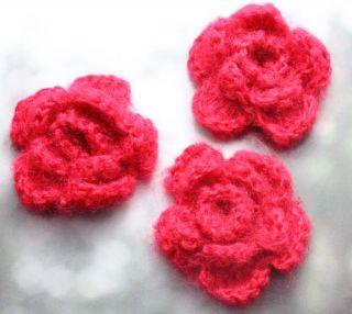 crochet flower embellishment patterns on PopScreen