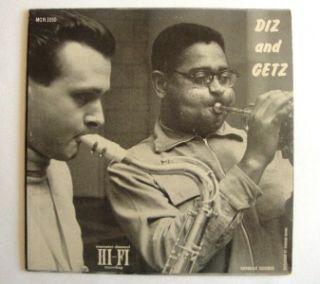 Album Dizzy Gillespie Stan Getz Diz and Getz Norgan LP Record MGN 1050
