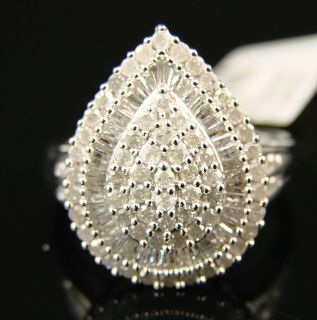 Ladies Womens Pear Shaped Fashion Diamond Ring 1 50 Ct