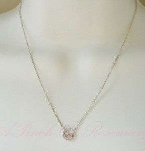 Pure Sterling Silver Small Love Pendant Necklace with Genuine Diamond
