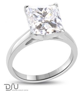 16 Ct F SI2 Princess Diamond Solitaire Ring 14k w Gold