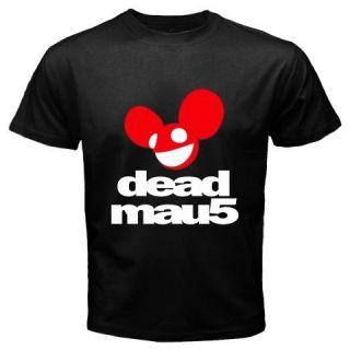 New DJ Deadmau5 Deadmouse Electro Music Dance Mens Black T Shirt Size