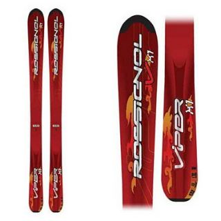 New Rossignol Viper x1 Youth Downhill Skis Red Junior Kids 140cm 140