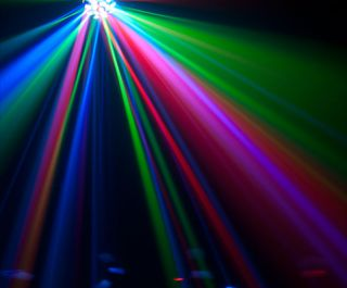 LED Pro DJ Sound Activated Multi Color Beam Floor Effect Light