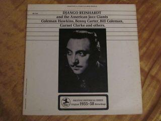 Django Reinhardt American Jazz Giants Carter Hawkins LP