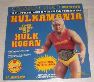 MIP LASERDISC 1985 HULKAMANIA WRESTLING HULK HOGAN IRON SHIEK