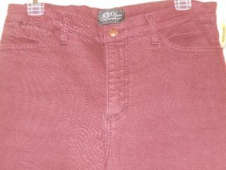 Sz 10 NYDJ Burgundy not Your Daughters Jeans Pants Tummy Tuck Boot Cut