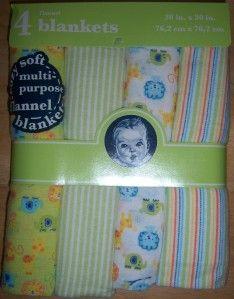 New Gerber Flannel Receiving Blankets, Baby Shower, Diaper Cakes