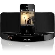 Philips ad300 Docking Speaker System iPod iPhone Dock W Alarm Clock
