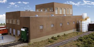 HO Scale Paper Mill Brick Main Finishing Building Kit