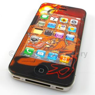 Dragon Case Decal Cover Sticker iPhone 4 4G Accessory