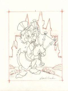 Carl Barks Uncle Scrooge Original Preliminary Drawing