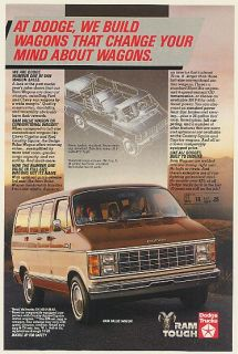 1984 Dodge RAM Value Wagon We Build Wagons That Change Your Mind Print