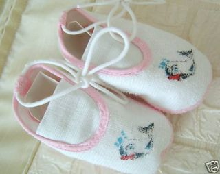 Dream Baby Girls Towelling Shoes 0 3MTH Reborn 20 24