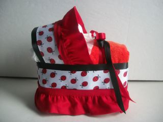 LADYBUG BOY GIRL NEUTRAL CUTE DIAPER BASSINET BABY SHOWER CENTERPIECE