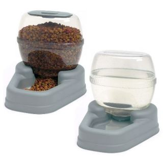 Bergan Gourmet Pet Dog Cat Feeder Waterer Combo Automat