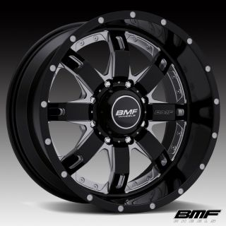 WHEELS 8x6.5 20x10 R.E.P.R. DEATH METAL BLACK 00 10 CHEVY/GMC DIESEL
