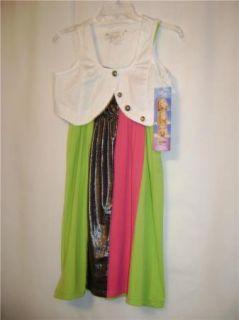 Disney Hannah Montana Dress Shrug Set Multi XL16