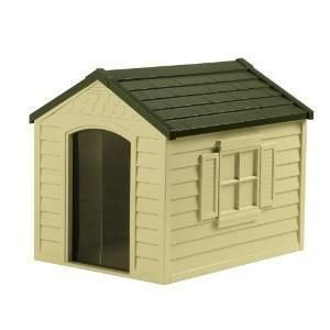 Suncast deluxe dog house for large dogs for Suncast dh250 dog house