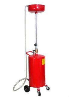 20 Gallon Oil Drain Air Operated Oil Waste Drain Lift Tank w Wheel