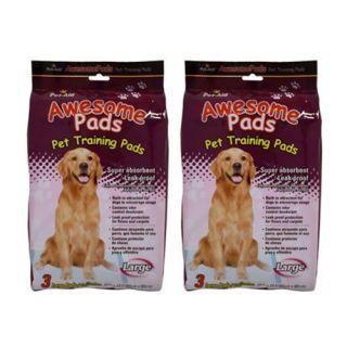 pks Pet Aid Awesome Puppy Dog Potty Training Pads 6pcs Large 24x24