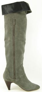 Dolce Vita Nathaniel Grey Suede Womens Designer Over The Knee Boots 8