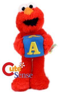 Sesame Street Elmo Plush Doll w Holding Cubic 9in