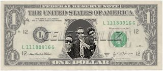 Beastie Boys Dollar Bill Mint Real $$ Celebrity Novelty Collectible