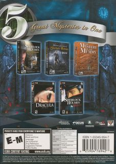 COLLECTION   5x Sherlock Holmes & Dracula Adventure Mystery Games NEW