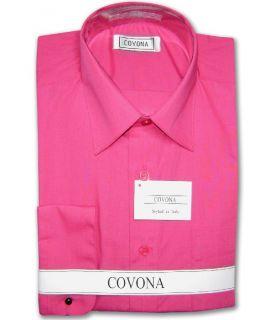 Mens Hot Pink Dress Shirt Cnvrtbl Cuff Sz 17 1 2 34 35