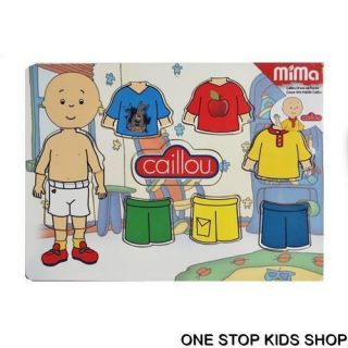 Caillou Boys Girls Wooden Dress Up Puzzle Toy Game PBS Kids