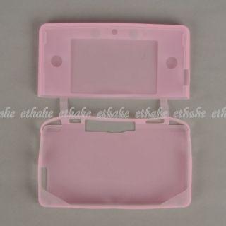 Nintendo 3DS Silicone Case Skin Protector Pink E1E36B