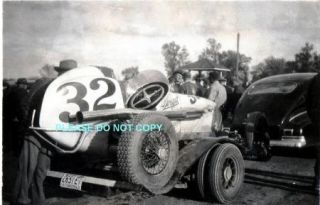 1940 PHOTO   V8 DREYER RACE CAR   INDY 500   OPEN WHEEL   MIDGET HOT