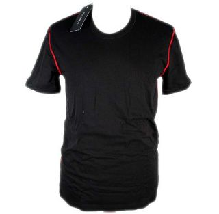 Dolce Gabbana Refined Colour R Neck T Shirt Stretch Cotton Black Red