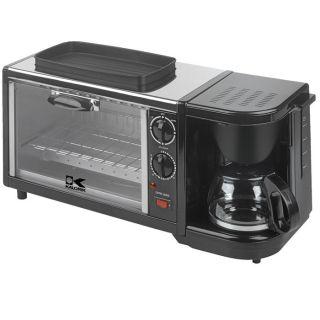 Kalorik Breakfast Set 3 in 1 Coffee Maker Oven Griddle