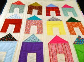 Vintage Hand Stitched Infant Baby Doll Buggy Crib Quilt Blanket 20 x