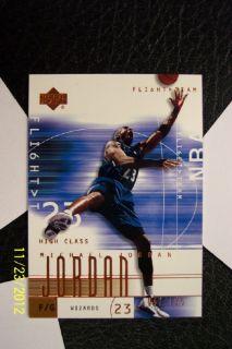 2001 2002 UD Upper Deck Michael Jordan High Class Flight Team RARE 42