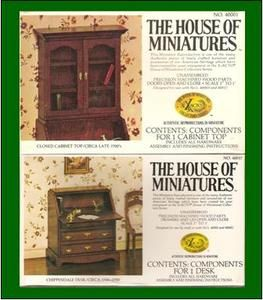 RARE House of Miniatures Dollhouse Furniture Kits 2 Desk Cabinet Top