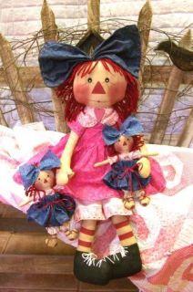 Doll Patterns, Raggedy Ann Patterns, Primitive Doll