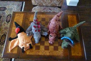 Caltoy Dinosaur Glove Hand Puppets T Rex, Triceratops, Stegosaurus