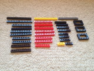 LEGO 29 Pieces Technic Blocks Bricks Mindstorms Red Yellow black