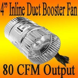 inch INLINE DUCT FAN exhaust BOOSTER vent blower cooling Cool
