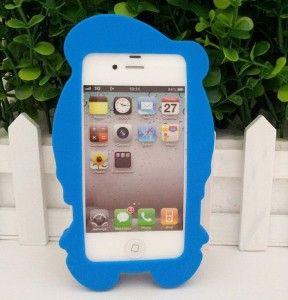 3D Disney Donald Duck Blue White Case for Apple IPhone 4 4G 4S