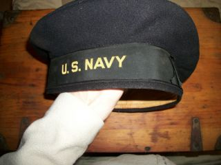 WWII Navy Wool Cap Donald Duck Hat US WW2 Estate Find Cracker Jack