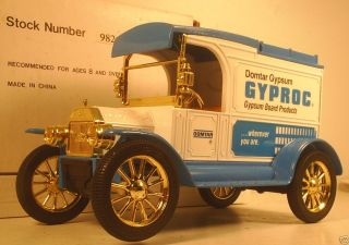 Ertl 1913 Ford Model T Gyproc Domtar Gypsum Diecast Coin Bank