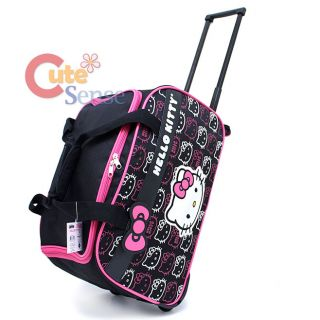 Sanrio Hello Kitty Duffle Bag with Wheels Trolley Luggage Bag  Large