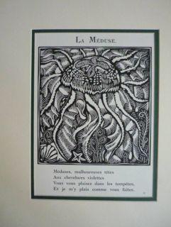 Raoul DUFY b1877 La Meduse Woodcut Crayfish   professionaly double