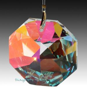 Swarovski 8015 Austrian Crystal Prism 60mm AB Octagon Suncatcher