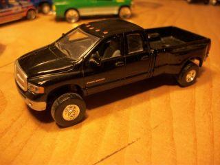 Ertl 1 64 Custom Black Dodge Ram Crew Cab Dually 4x4 Pickup Diesel
